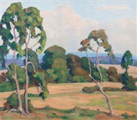 afternoon landscape by fred darge