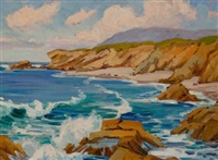 california coastline (painted from conway griffith highway sign, irvine) by anna althea hills