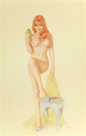 does this look like a nice spot for a picnic mr morton playboy pin up july by alberto vargas