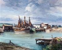 shrimp boats at port isabel, texas by jose vives-atsara