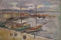 port of st. tropez by charles camoin