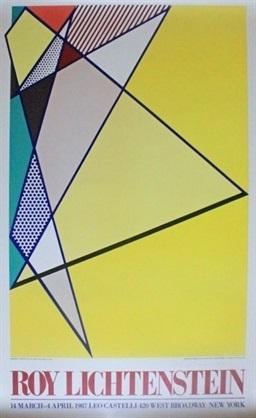 hand signed offset lithograph for leo castelli gallery exhibition by roy lichtenstein