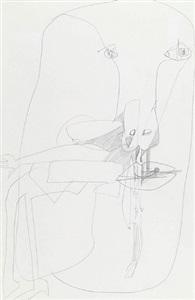 female head iv 1961 & head 1961 by george fullard
