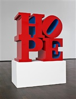 hope, red/blue by robert indiana