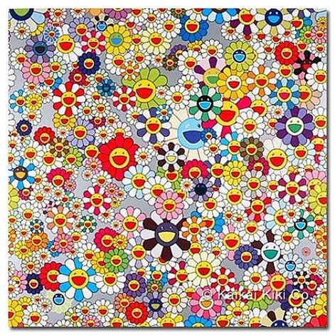 flower superflat by takashi murakami