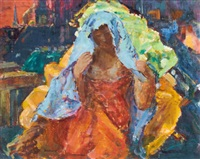 lady in a blue veil by clarence hinkle