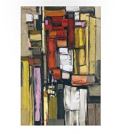 vertical structure: red & yellow by john bainbridge copnall