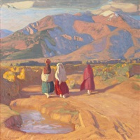 taos valley reflections by ernest leonard blumenschein