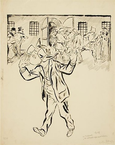 man with blinders by george grosz