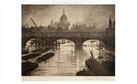 city of london from waterloo bridge by christopher richard wynne nevinson