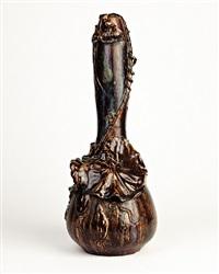 leafy gourd vase by pierre-adrien dalpayrat