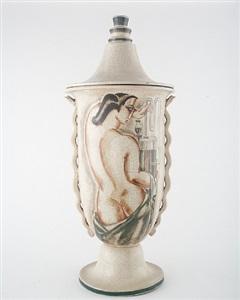 monumental lidded vase by rené buthaud