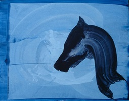 untitled drawing, horse series by miriam cabessa