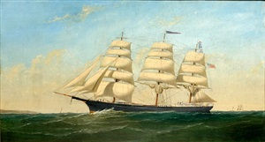 full rigged ship gatherer by alexander charles stuart