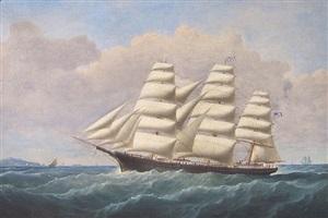 american full-rigged ship m.p. grace by john hughes