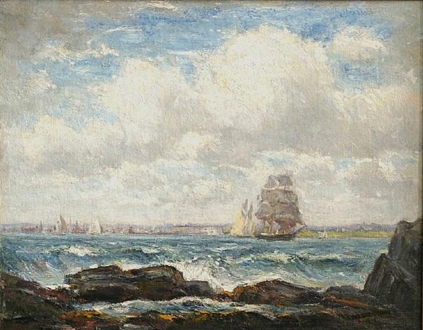 narragansett bay & newport, rhode island 1902 by reynolds beal