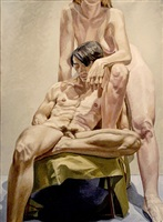 models in the studio by philip pearlstein