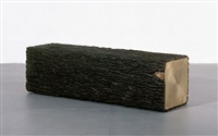 square tree trunk bench ii by bo young jung & emmanuel wolfs