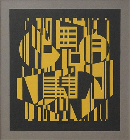 composition jaune by victor vasarely