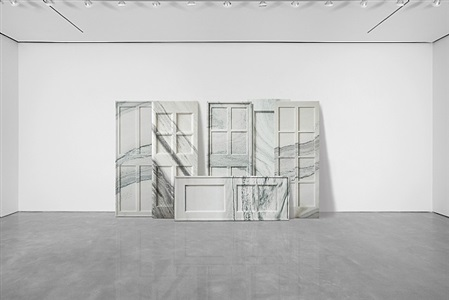 white marble and paint, from antiquity to now by ai weiwei