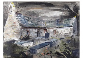llantrisant church, anglesey by john piper