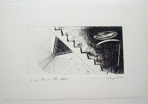 toy on stair by james rosenquist