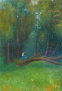 figure in the forest by anna althea hills