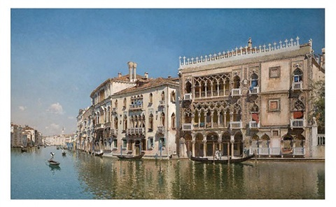 the ca d' oro, venice by federico del campo