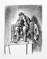 weeping lincoln by bill mauldin