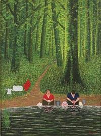les levandieres au board du ruisseau by camille bombois