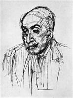portrait of the painter max liebermann by oskar kokoschka