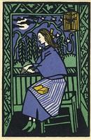 girl at the window by oskar kokoschka