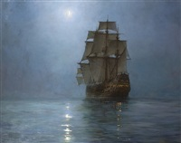 the crescent moon by montague dawson