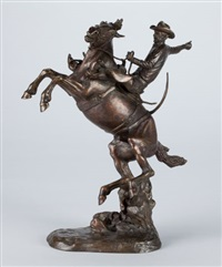 bucking bronco by frank frederick polk