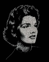 jackie (from pictures of diamonds) by vik muniz