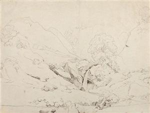 italian landscape by jean-baptiste-camille corot