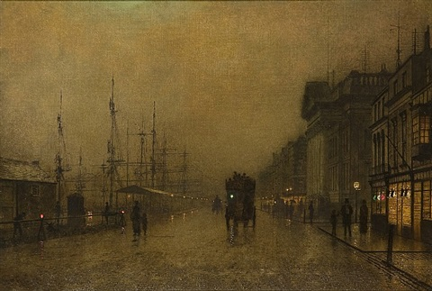 liverpool docks by john atkinson grimshaw