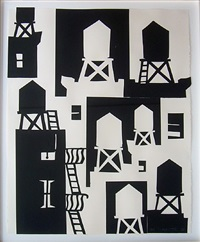 watertower (black) by tom slaughter