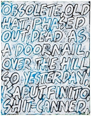 obsolete by mel bochner