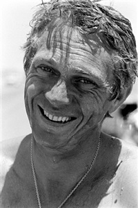 steve mcqueen laughing, california, 1963 by john dominis