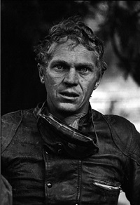 steve mcqueen after motorcycle race, mojave desert, california, 1963 by john dominis