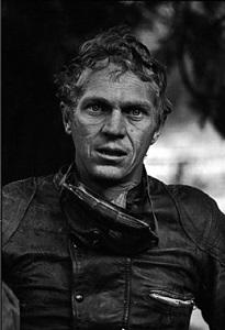 steve mcqueen after motorcycle race, mojave desert, california, 1963 by john dominis