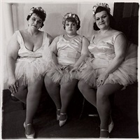 three circus ballerinas by diane arbus