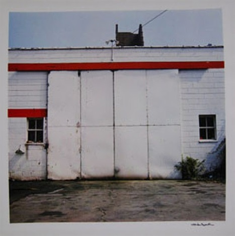 untitled (red and white building) by william eggleston