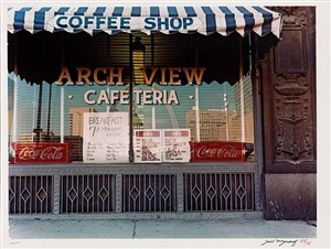7th & chestnut, arch view cafeteria by joel meyerowitz