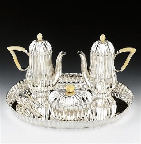 five piece coffee set by dagobert peche