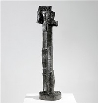 standing figure (with raised arms) by fritz wotruba