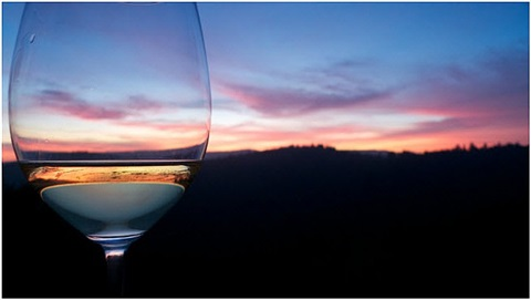 sunset in a glass by ricardo leitao