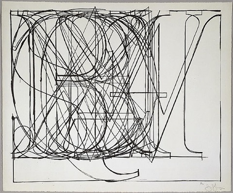 alphabet by jasper johns