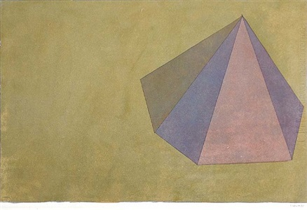 untitled (pyramid) by sol lewitt